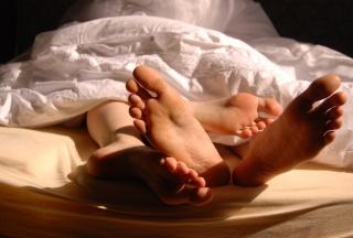 Füsse im Bett