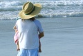 Mutter am Strand